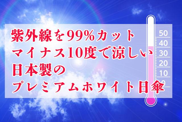 日本製プレミアムホワイト日傘